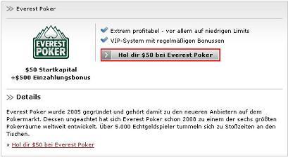 everest poker anmelden